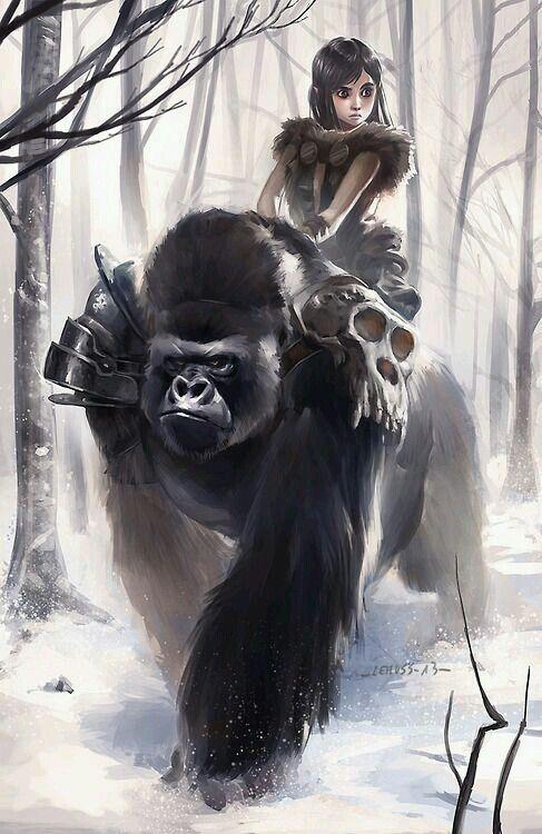 Gorilla fantasy art